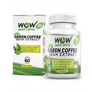 Buy Wow Green Coffee Bean Extract (60 Capsules) - Nykaa