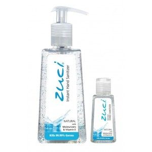 Buy Zuci Pack Of 250 ml & 30 ml Hand Sanitizer - Natural - Nykaa