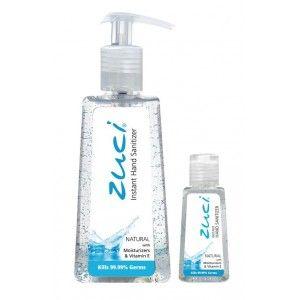 Buy Zuci Pack Of 250 ml & 30 ml Hand Sanitizer - Natural - Nykaa