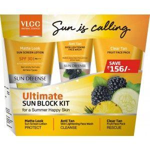Buy VLCC Ultimate Sun Block Kit (Save Rs.156) - Nykaa