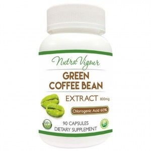 Buy Nutravigour Organic Green Coffee Bean Extract 60% (Chlorogenic Acid) GCA VEG Weight Loss 90 Capsules 800mg - Nykaa