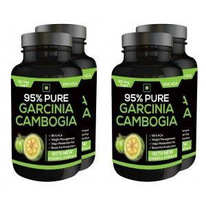 Buy Nutravigour Pure Garcinia Cambogia 95% Hca 800mg 60 Veg Capsules - Pack Of 4 - Nykaa