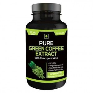 Buy Nutravigour Pure Green Coffee Extract 50% Gca 60 Capsules - Nykaa