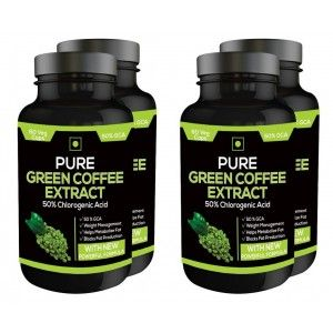 Buy Nutravigour Pure Green Coffee Extract 50% Gca 60 Capsules - Pack Of 4 - Nykaa