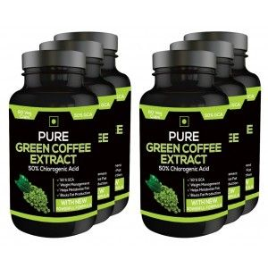 Buy Nutravigour Pure Green Coffee Extract 50% Gca 60 Capsules - Pack Of 6 - Nykaa