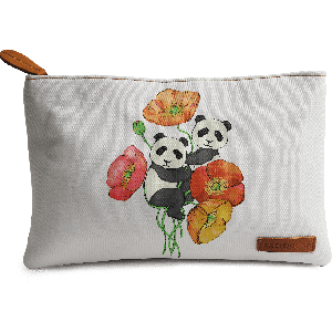 Buy DailyObjects Poppies and Pandas Carry-All Pouch Medium - Nykaa