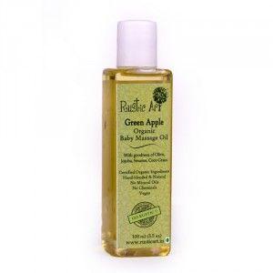 Buy Rustic Art Organic Baby Oil - Green Apple  - Nykaa
