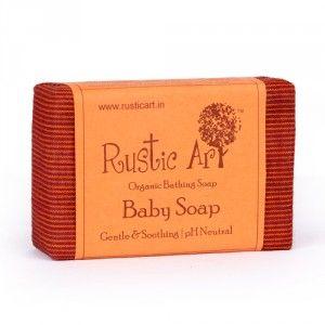 Buy Rustic Art Organic Baby Soap - Nykaa