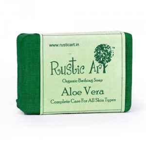 Buy Rustic Art Organic Aloe Vera Soap - Nykaa