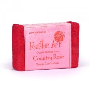 Buy Rustic Art Organic Country Rose Soap - Nykaa