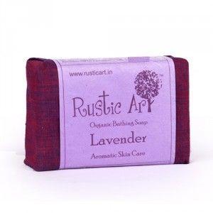 Buy Rustic Art Organic Lavender Soap - Nykaa