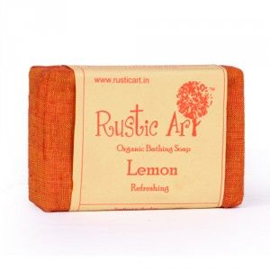Buy Rustic Art Organic Lemon Soap - Nykaa