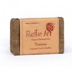 Buy Rustic Art Organic Vetiver Soap - Nykaa