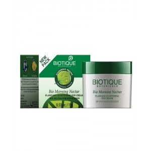 Buy Biotique Bio Morning Nectar Flawless Lightening Eye Cream SPF 30 UVA/UVB Sunscreen - Nykaa
