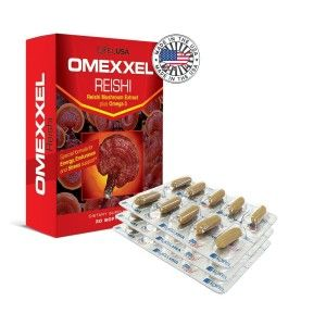 Buy ExxelUSA Omexxel Reishi Mushroom Extract Plus Omega - Nykaa