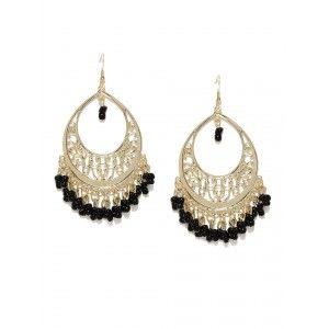 Buy Toniq Black Firdosi Earrings - Nykaa