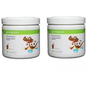Buy Herbalife Dinoshake Children's Nutritional Drink Mix Chocolicious - 500 grms, Pack of 2 - Nykaa