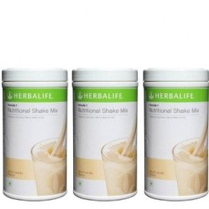 Buy Herbalife Meal Replacement Shake - French Vanilla 500 g each - Set of 3 - Nykaa