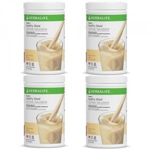 Buy Herbalife Meal Replacement Shake - French Vanilla 500 g each - Set of 4 - Nykaa