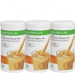 Buy Herbalife Meal Replacement Shake - Orange Cream 500 g - Set of 3 - Nykaa