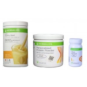 Buy Herbalife Weight Loss Combo - Orange Cream, Protein Powder & Afresh Lemon  - Nykaa