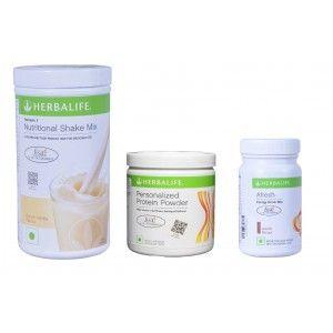 Buy Herbalife Weight Loss Combo - French Vanilla, Protein Powder & Afresh Elaichi - Nykaa