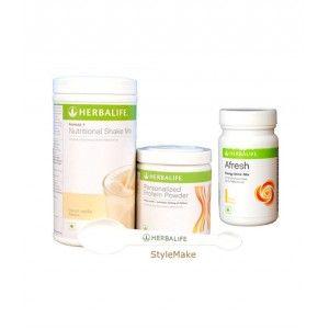 Buy Herbalife Weight Loss Combo - French Vanilla Protein Powder & Afresh Peach - Nykaa
