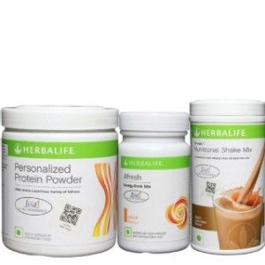 Buy Herbalife Weight Loss Combo - Dutch Chocolate Protein Powder & Afresh Peach - Nykaa