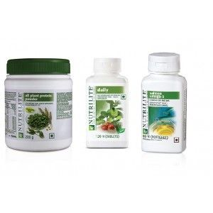 Buy Amway Protein Powder-200 grms, Daily-120 & Omega-60 Softgels - Combo of 3 - Nykaa
