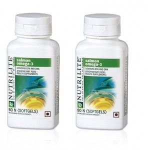 Buy Amway Nutrilite Salmon Omega-3, 60 Softgels - Pack of 2 - Nykaa