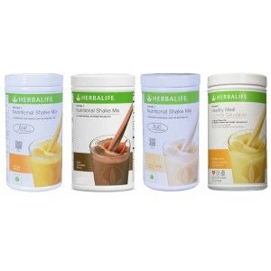 Buy Herbalife Meal Replacement Combo of 4 - Orange Cream, French Vanilla, Mango & Dutch Chocolate - Nykaa
