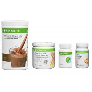 Buy Herbalife Weight Loss Pack- Dutch Chocolate, Cell-U-Loss, Protein Powder & Peach  - Nykaa