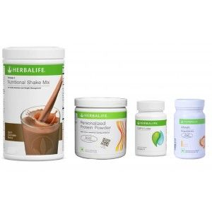 Buy Herbalife Weight Loss Pack- Dutch Chocolate, Cell-U-Loss, Protein Powder & Ginger - Nykaa