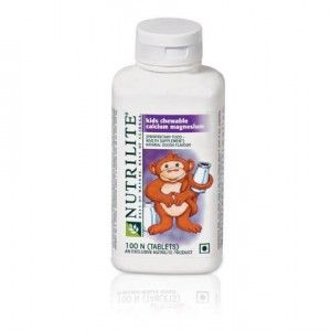 Buy Amway Nutrilite Kids Chewable Calcium Magnesium (100 Tablets) - Nykaa