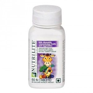 Buy Amway Nutrilite Kids Chewable Concentrated Fruit & Vegetable (60 Tablets) - Nykaa