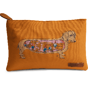 Buy DailyObjects Secrets of the Dachshund Carry-All Pouch Medium - Nykaa