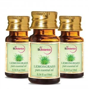 Buy St.Botanica Lemongrass Pure Aroma Essential Oil - 10ml x 3 - Nykaa