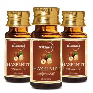 Buy St.Botanica Hazelnut Pure Coldpressed Carrier Oil - 30ml x 3 - Nykaa