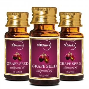 Buy St.Botanica Grape Seed Pure Coldpressed Carrier Oil - 30ml x 3 - Nykaa