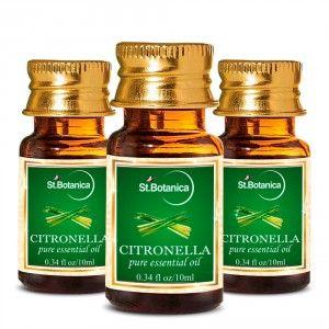 Buy St.Botanica Citronella Pure Aroma Essential Oil - 10ml x 3 - Nykaa