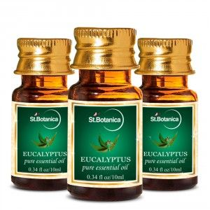 Buy St.Botanica Eucalyptus Pure Aroma Essential Oil - 10ml x 3 - Nykaa