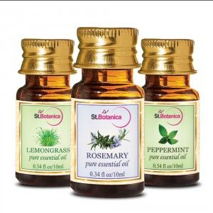 Buy St.Botanica Lemongrass + Rosemary + Peppermint Pure Essential Oil - 10ml x 3 - Nykaa