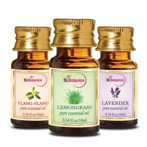 Buy St.Botanica Ylang-Ylang + Lemongrass + Lavender Pure Essential Oil - 10ml x 3 - Nykaa