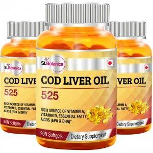 Buy St.Botanica Cod Liver Oil 525 - 3 Bottles - Nykaa