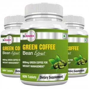 Buy St.Botanica Green Coffee Bean Extract 800mg - 60 Tablets (Pack of 3) - Nykaa