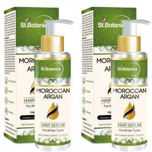Buy St.Botanica Moroccan Argan Hair Serum for All Hair Types & Beard (Pack of 2) - Nykaa
