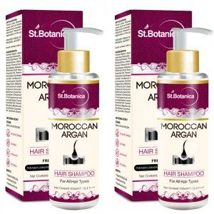 Buy St.Botanica Moroccan Argan Hair Shampoo - Free from SLS, Paraben (Pack of 2) - Nykaa