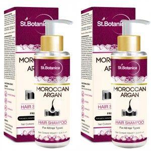 Buy St.Botanica Moroccan Argan Hair Shampoo - Free from SLS, Paraben (Pack of 2) - Nykaa