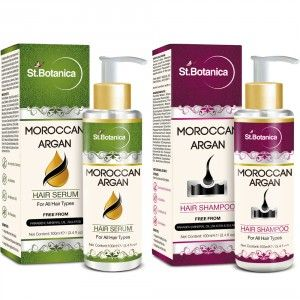 Buy St.Botanica Moroccan Argan Hair Serum + Hair Shampoo (Combo Pack) - Nykaa