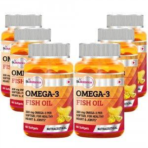 Buy St.Botanica Omega 3 Fish Oil - 60 Softgels (Pack of 6) - Nykaa